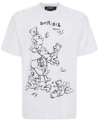 DOMREBEL Tenderness Cotton Jersey T-shirt - White