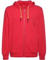 Ferrari Sweat Zippé En Coton À Logo En Métal - Rouge
