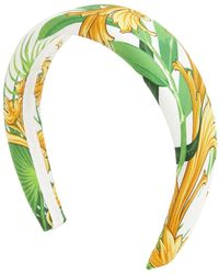 Versace Barocco Print Silk Headband - Mehrfarbig