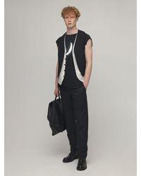 Ann Demeulemeester Fine Cotton Jersey T-shirt - Black