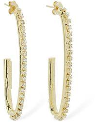 Rosantica Louise Crystal Hoop Earrings - Metallic