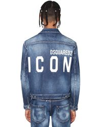 DSquared² Giacca Dan Fit In Denim Stretch - Blu