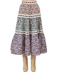 Marc Jacobs Floral Print Cotton Poplin Skirt - Mehrfarbig
