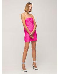 ROTATE BIRGER CHRISTENSEN Платье-комбинация Из Атласа - Розовый