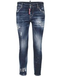"DSquared² Enge Jeans Aus Stretch-denim ""jennifer Icon"" - Blau"