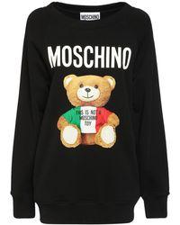 Moschino - Свитшот Из Хлопка Italian Teddy - Lyst