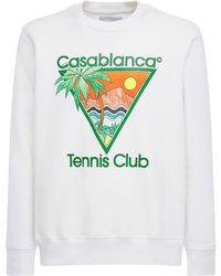 CASABLANCA Джемпер Из Джерси С Принтом «tennis Club Icon» - Белый