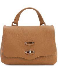 Zanellato Postina Baby Pura Leather Top Handle Bag - Brown