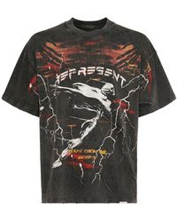 Represent Spirit Angel オーバーサイズコットンtシャツ - グレー