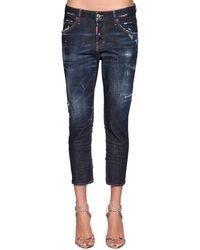 DSquared² Jeans Cropped Cool Girl De Denim - Azul