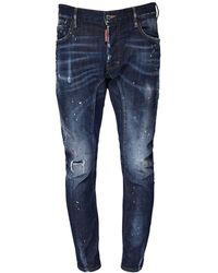 DSquared² Jeans Tidy Biker In Denim Di Cotone 17cm - Blu