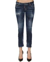 DSquared² - Jeans Skinny In Denim Destroyed - Lyst