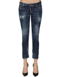 DSquared² - Jennifer Cropped Destroyed Skinny Jeans - Lyst