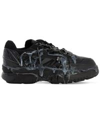 Maison Margiela Fusion Leather And Mesh Trainers - Black