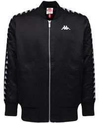 Kappa Insulated Nylon Bomber Jacket - Black