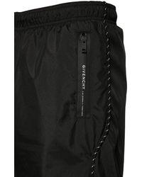 Givenchy Badeshorts Aus Nylon Mit Logo - Schwarz
