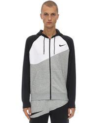 Nike - Nsw Swoosh Fz Ft コットンブレンドフーディ - Lyst