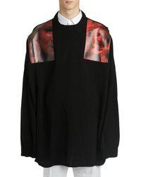 Raf Simons Shoulder-patch Knitted Jumper - Black