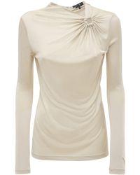 """Isabel Marant Camiseta """"dwester"""" De Jersey Drapeada - Neutro"""