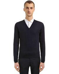 Prada Pullover Aus Schurwolle - Blau