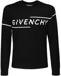 Givenchy Pullover Aus Baumwolle Mit Intarsie - Schwarz