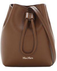 Max Mara Bucket-tasche Aus Leder - Braun