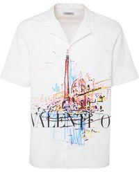 Valentino - Roman Sketches コットンポプリンシャツ - Lyst