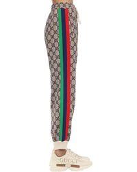 Gucci Hose Aus Baumwollmischjersey Mit Patch - Mehrfarbig