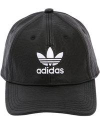 adidas Originals - Logo Faux Leather Hat - Lyst