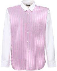 Comme des Garçons コットンポプリンシャツ - ピンク