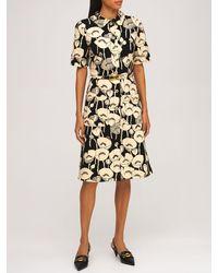 Gucci Poppy ビスコースジャージードレス - ブラック