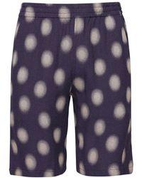 Needles - Shorts In Misto Cupro A Pois - Lyst