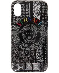Versace Iphone X-cover Mit Druck - Schwarz