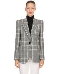 Petar Petrov Plaid Cool Wool Blazer - Grey