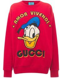 Gucci コットンジャージースウェットシャツ - レッド