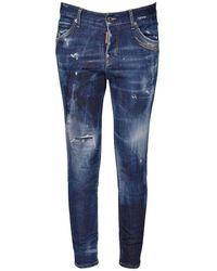 DSquared² Jeans Cool Girl Galaxy Dark Wash In - Blu