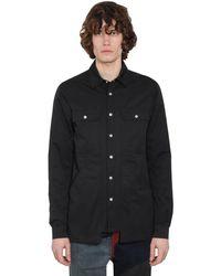 Rick Owens Drkshdw コットンカーゴシャツジャケット - ブラック