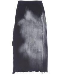 Marni コットンデニムスカート - ブラック