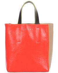 Marni Сумка Из Мягкой Гладкой Кожи Mini Museo Soft - Красный