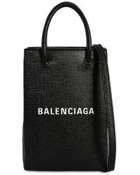 Balenciaga Кожаный Чехол Для Телефона - Черный