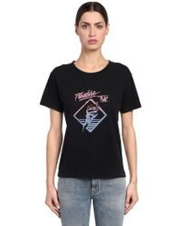Saint Laurent - Paradise Trip Cotton Jersey T-shirt - Lyst