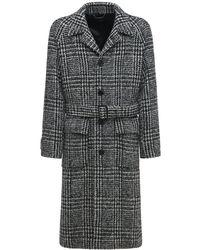Dolce & Gabbana ウールブレンドコート - ブラック