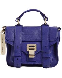 Proenza Schouler Ps1 Micro Lux Leather Bag - Blue