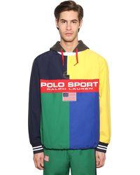 """Polo Ralph Lauren Jacke Aus Baumwolle Und Nylon """"rugby Mash Up"""" - Mehrfarbig"""