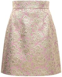 Dolce & Gabbana - ジャカードラメミニスカート - Lyst