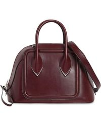 Alexander McQueen Bowling Leather Top Handle Bag - Red