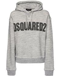 DSquared² - Hoodie Aus Baumwolljersey Mit Logo - Lyst