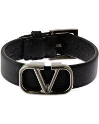 Valentino Garavani Valentino garavani armband aus leder mit logo - Schwarz