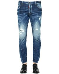 "DSquared² - Jeans ""sexy Twist"" In Denim Destroyed 16cm - Lyst"