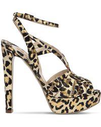 Ernesto Esposito - 120mm Leopard Metallic Leather Sandals - Lyst